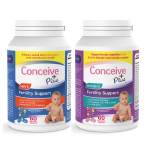 Fertility support prenatal vitamin supplements bundle for men and women by Conceive Plus